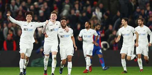 Crystal Palace – Swansea: Phần thưởng phút 88