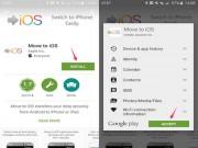 Cách sao lưu dữ liệu từ smartphone Android sang iPhone