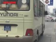 """Tin tức trong ngày - Xe biển xanh 80B """"cô đơn"""" trên làn đường buýt nhanh BRT"""