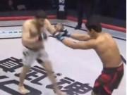 Thể thao - Trò bẩn MMA: Đối thủ lễ phép chào, đấm gục luôn 3 giây