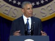 Thế giới - Obama rớm lệ khi nhắc vợ con trong bài phát biểu cuối cùng