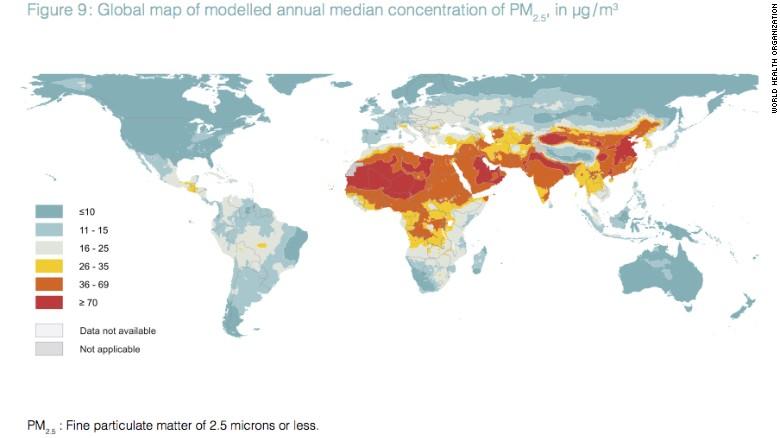 Hơn 90% dân số thế giới sống trong ô nhiễm - ảnh 2