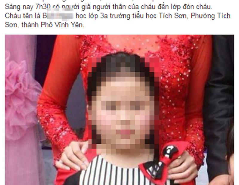 Bác tin giả người thân bắt cóc bé gái học lớp 3 - ảnh 1