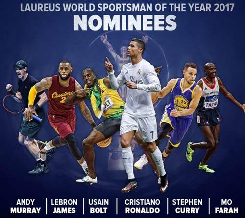 """Ronaldo, Murray, Bolt """"đấu đá"""" tranh bá chủ hành tinh"""
