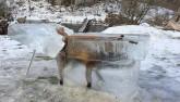 Cáo đông cứng đến chết trong quan tài băng âm 30 độ C