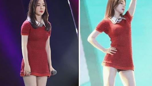 Người đẹp Hàn khổ sở vì diễn với váy quá ngắn