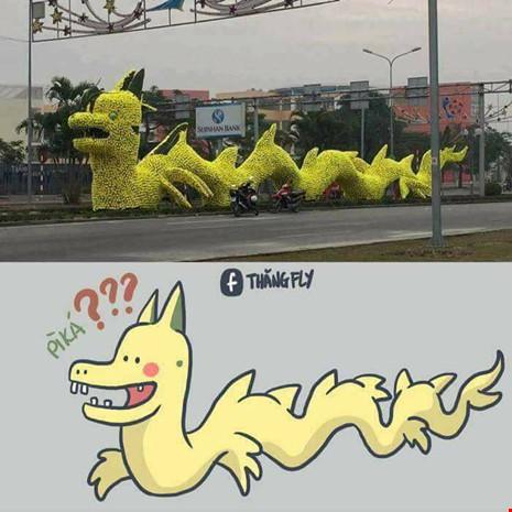 """Rồng """"Pikachu"""" ở Hải Phòng không được đăng ký bản quyền? - 1"""