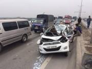 Tin tức trong ngày - Hà Nội: 7 xe ô tô đâm liên hoàn trên cầu Thanh Trì