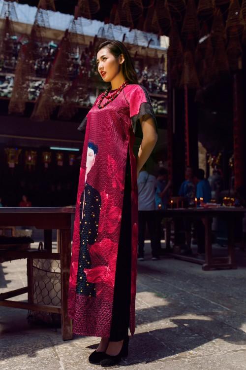 Á hậu Tú Anh mơn mởn nét xuân thì với áo dài nền nã - 5