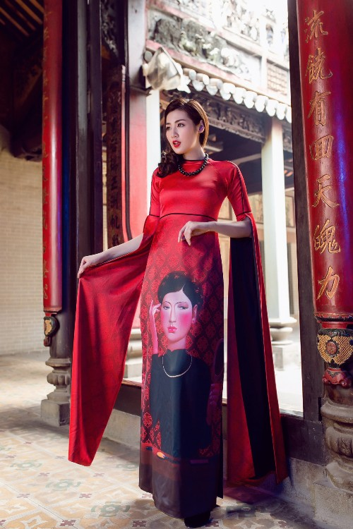 Á hậu Tú Anh mơn mởn nét xuân thì với áo dài nền nã - 8
