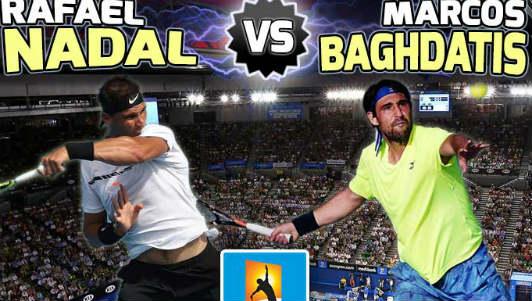 TRỰC TIẾP Nadal - Baghdatis: Nóng ngay từ đầu