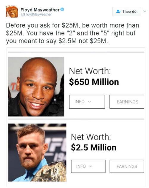 Tin thể thao 22/1: Mayweather chê McGregor nghèo
