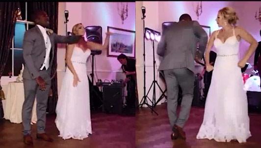 """Clip: Cô dâu tháo giày nhảy """"máu lửa"""" cùng chú rể trong đám cưới"""