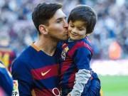Cậu ấm của huyền thoại Messi hứa hẹn trở thành siêu sao bóng đá