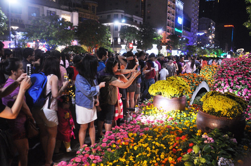Khai mạc đường hoa Tết Đinh Dậu 2017 trên phố đi bộ Nguyễn Huệ - 4