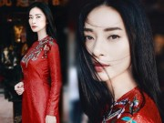 Thời trang - ''Đả nữ'' Ngô Thanh Vân e ấp bất ngờ với áo dài đỏ thắm