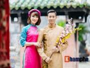 Thể thao - Tiến Minh – Vũ Thị Trang đăng ảnh Tết đẹp như tranh