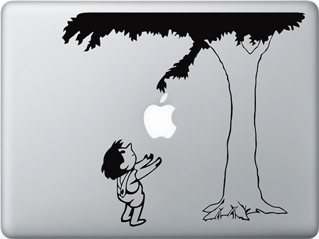Những sticker kịch độc giúp biến hình quả táo sau Macbook