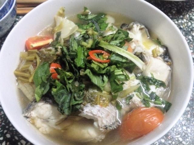 Cá lóc nấu cải chua, món ngon khó cưỡng ngày đầu xuân
