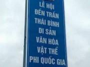 """Tin tức trong ngày - Lãnh đạo Thái Bình nói gì về biển quảng cáo đền Trần """"phi quốc gia""""?"""