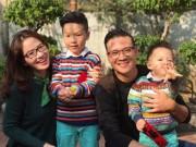 MC Đan Lê khoe ảnh chồng con điển trai đầu năm mới