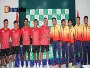 """Tennis Davis Cup: Hoàng Nam  """" trả nợ """"  cho Hoàng Thiên"""