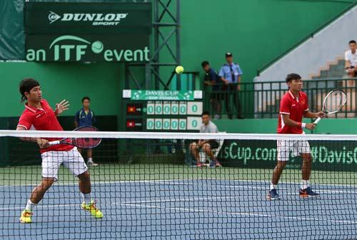 Davis Cup: Hoàng Nam, Hoàng Thiên kịch chiến 4 set - 1