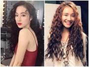"""Thời trang - Phương Trinh, Nhã Phương đẹp lạ với tóc """"mì tôm"""""""