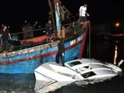 Rời đảo Nam Du trong đêm, ca nô chở 14 người bị chìm
