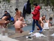 Phi thường - kỳ quặc - Tường che sập, vẫn điềm nhiên khỏa thân tắm suối nước nóng