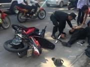 An ninh Xã hội - Đi xe kẹp 4 bị bắt, nhóm 9X dùng gạch tấn công CSCĐ