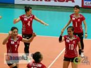 """Thể thao - Bóng chuyền Cup Liên Việt: """"Hot girl"""" Linh Chi, Phạm Yến tung hoành"""