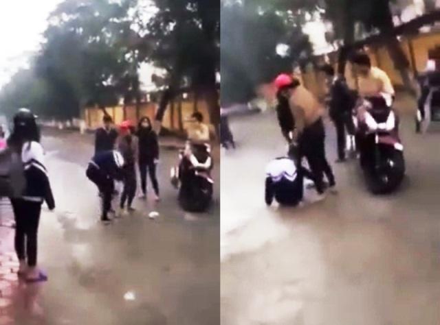 Nữ sinh bị đánh trước cổng trường: Do đòi nợ thay bố mẹ - 1