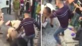 Clip: Thanh niên liều lĩnh đánh lái xe trước mặt CSGT