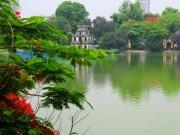Tin tức trong ngày - Lo Hồ Gươm mất màu nước xanh lục hiếm có khi nạo vét