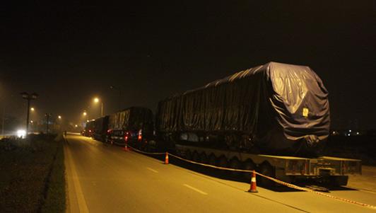 Tàu Cát Linh-Hà Đông đã về đến Hà Nội trong đêm