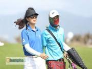 Nữ golf thủ Việt xinh đẹp hút nhiều ánh nhìn dưới nắng và gió