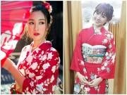 Thời trang - HH Mỹ Linh, Hari Won diện kimono đẹp tựa gái Nhật