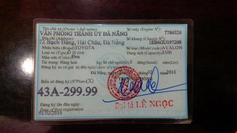 Bí thư Đà Nẵng bác bỏ thông tin đi xe biển số giả - 2