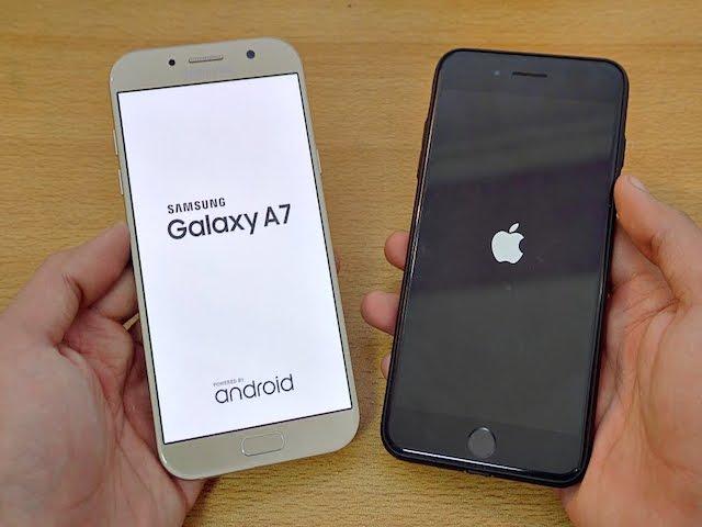 iPhone 7 Plus và Galaxy A7 2017: Ai chống nước tốt hơn?