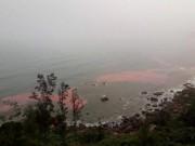Huế: Dải nước màu đỏ xuất hiện ở đầm Lập An