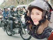 """Cô gái đẹp gây sốt giữa 160 mô tô  """" khủng """"  diễu hành tưởng nhớ Trần Lập"""