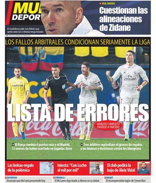 Liga loạn vì trọng tài: Báo chí tố Barca bị xử ép so với Real