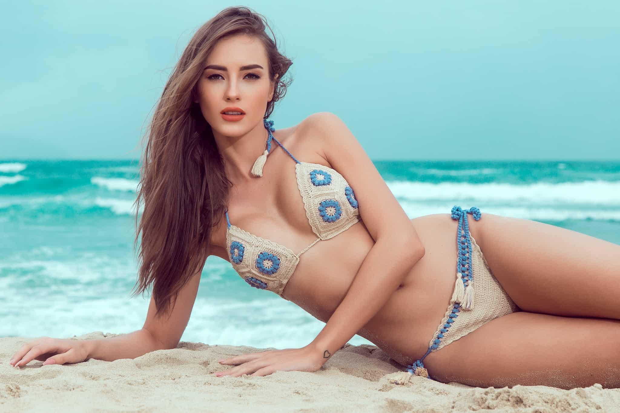 """Hà Anh mặc bikini gợi cảm """"áp đảo"""" hoa, á hậu quốc tế - 6"""