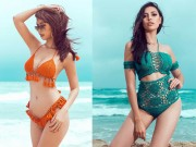 """Thời trang - Hà Anh diện bikini gợi cảm """"áp đảo"""" hoa, á hậu quốc tế"""