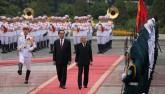 Cận cảnh lễ đón Nhà vua Nhật Bản tại Phủ Chủ tịch
