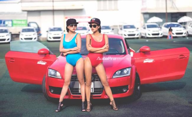 Phạm Thúy Nga thể thao, năng động trong bộ ảnh bên Audi TT