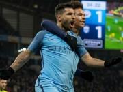 """Bóng đá - Man City đại thắng, Guardiola """"phát cuồng"""" vì Aguero"""