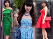 Thời trang - Vợ Lý Hải trông như gái 20 khi mặc xì-tin, eo ót thế này
