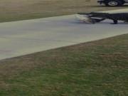 Phi thường - kỳ quặc - Cá sấu khổng lồ ngậm mồi nghênh ngang trên sân golf